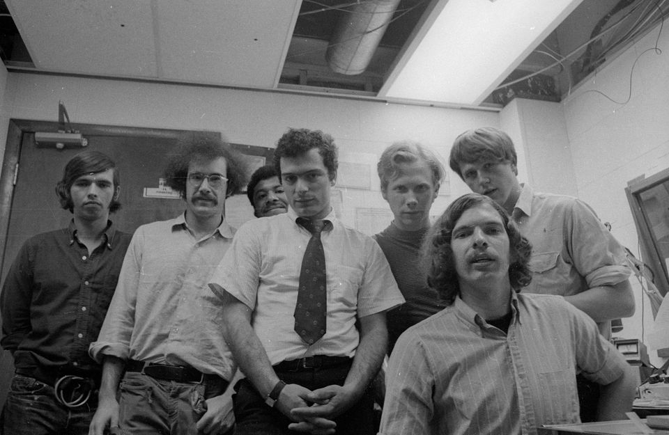 """A scene from the documentary """"WBCN and the American Revolution."""""""