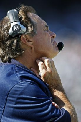 Bill Belichick watched his team fall to 1-1.