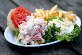 The lobster roll at Twin Seafood.