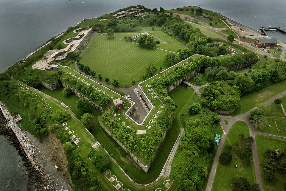 A view of Fort Warren on George's Island.