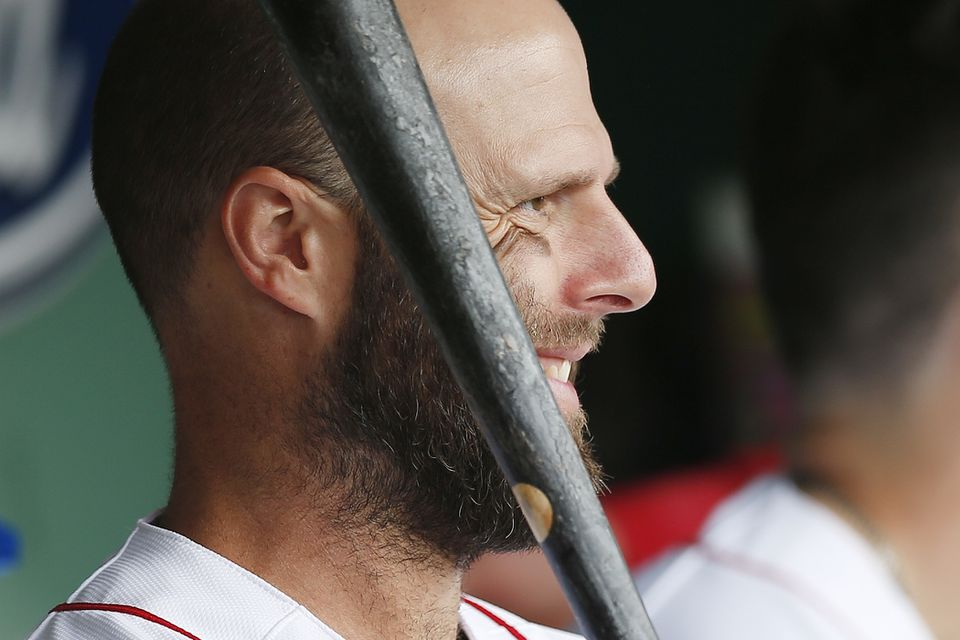 """Dustin Pedroia was placed on the injured list Thursday with what the team termed as """"irritation"""" in his knee."""