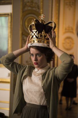 "Claire Foy in ""The Crown."""