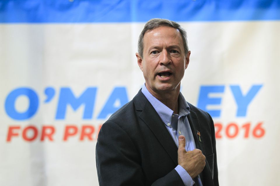 Democratic presidential hopeful Martin O'Malley in New Castle, N.H.