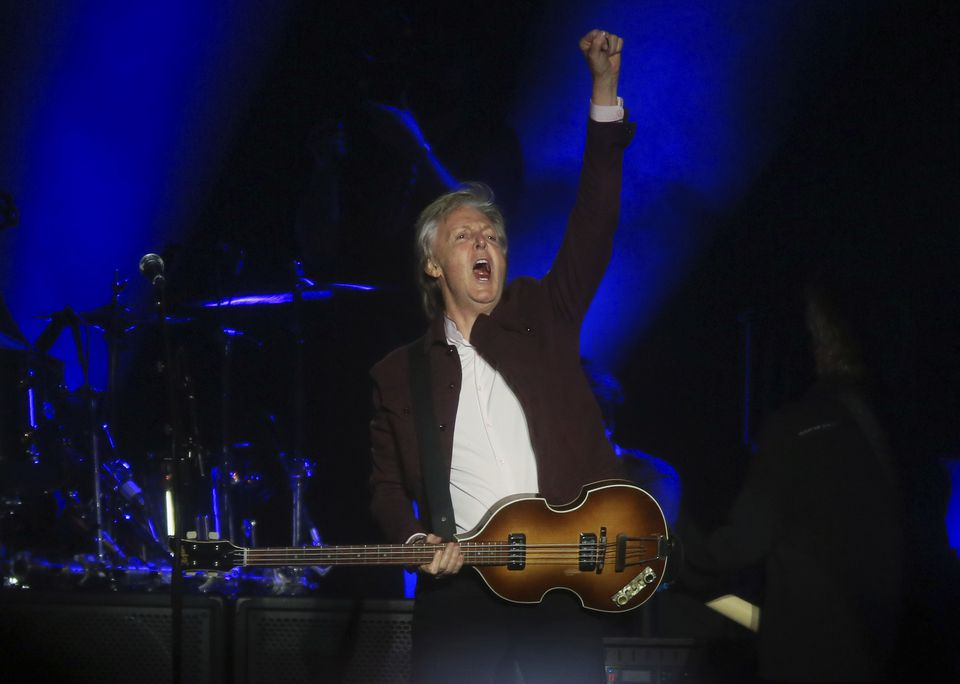 Paul McCartney performs at the Austin City Limits Music Festival's first weekend on Friday, Oct. 5, 2018, in Austin, Texas.