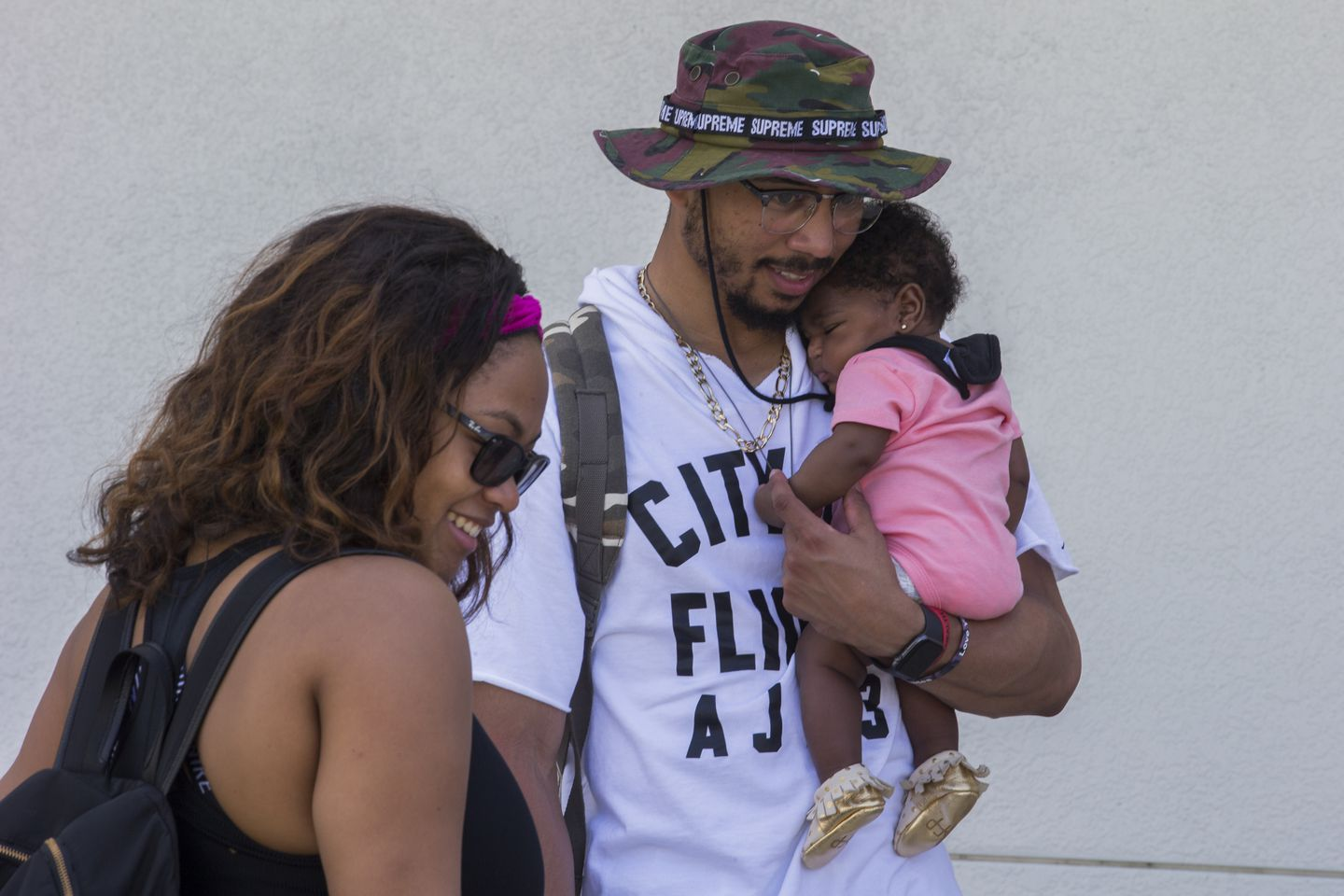 Mookie Betts's girlfriend, Brianna Hammonds, joined him at spring training Monday.