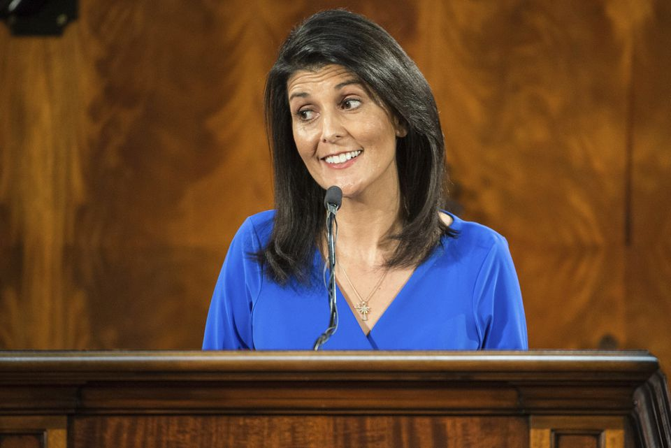 """One liberal pundit wondered about Trump's process for selecting Cabinet members. """"Why is Nikki Haley (above) the ambassador to the United Nations?"""""""