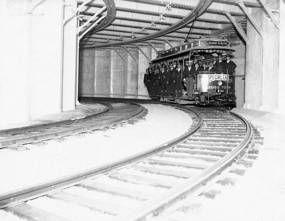The trial run of Boston's subway in August 1897.