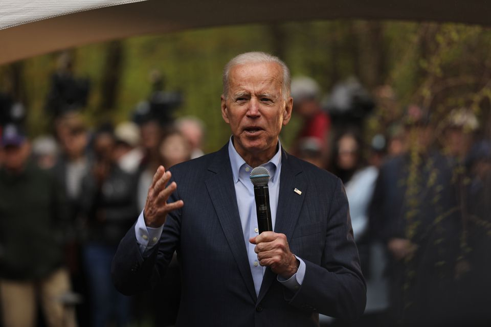 Former vice president Joe Biden wrapped up his first campaign swing in Nashua, N.H., on Tuesday.