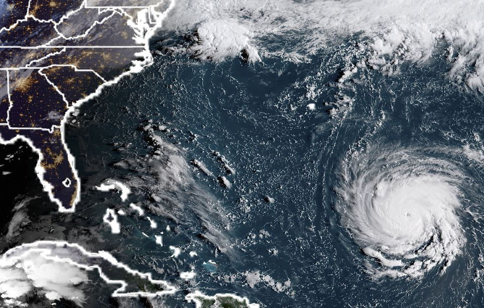 Hurricane Florence rapidly strengthened into a potentially catastrophic Category 4 storm on Monday as it closed in on North and South Carolina.