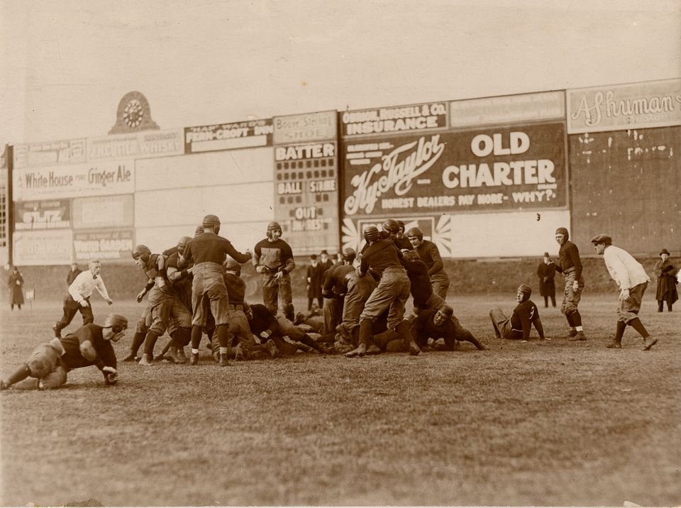Boston College defeated Holy Cross, 17-14, on Dec. 2, 1916.