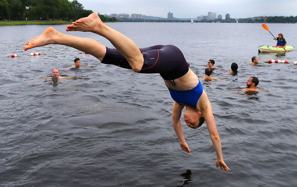 The Charles River Conservancy hosted the first public swim in the Charles River in 50 years.