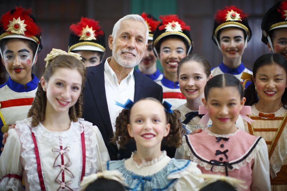 Choreographer José Mateo with dancers.