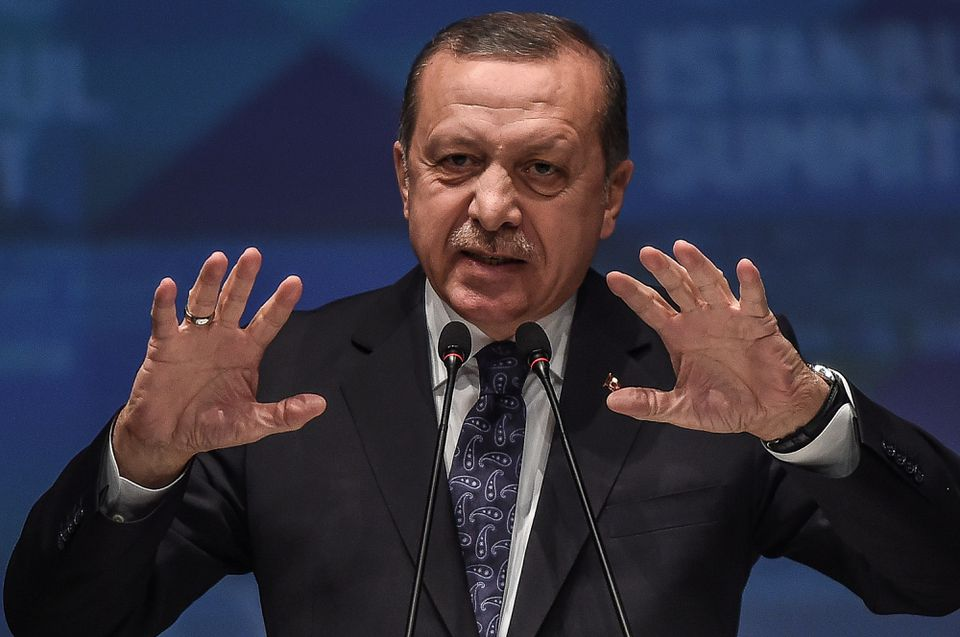 Turkish President Recep Tayyip Erdogan spoke in Istanbul on April 15.