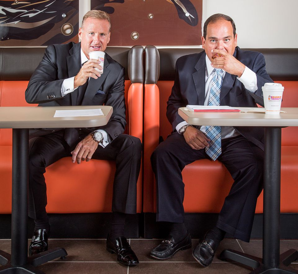 Gary Joyal, a wildly successful franchise broker, and Mark Cafua, whose family owns the largest privately held network of Dunkin's in the United States.