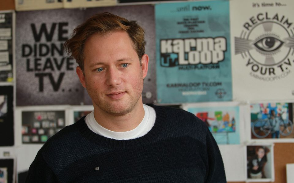 Karmaloop CEO Greg Selkoe at company headquarters in 2010.