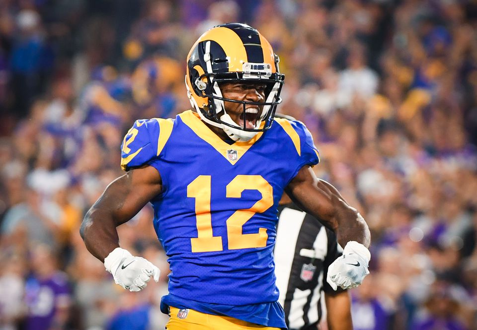 Brandin Cooks has 452 yards and a touchdown on 26 catches through four games.