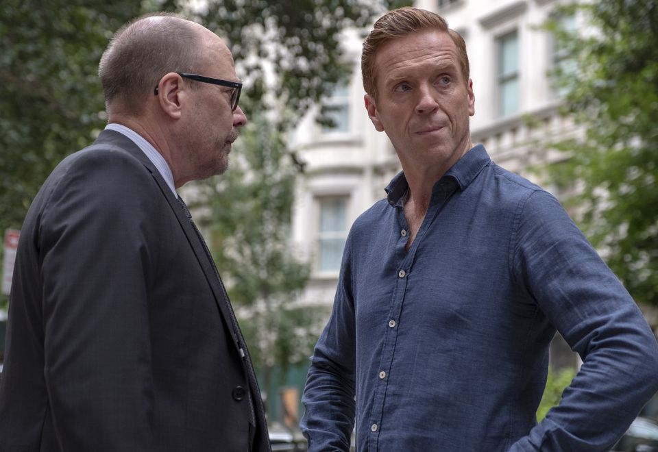 """Damian Lewis (right) as Bobby """"Axe"""" Axelrod in """"Billions."""""""
