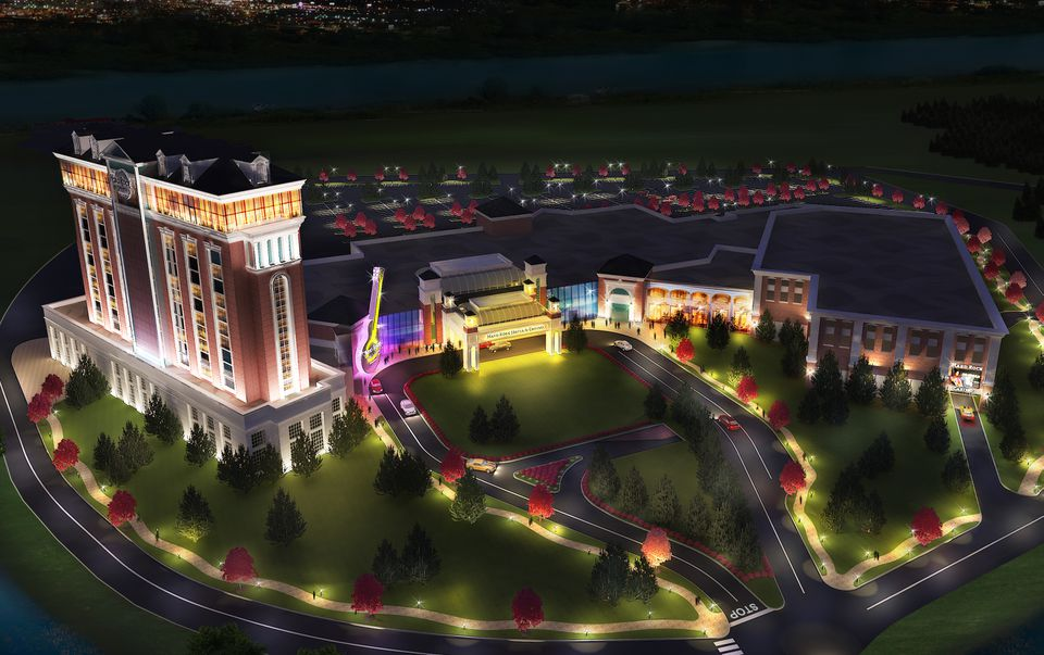 The proposed Hard Rock casino complex would include a hotel, a rooftop pool, a spa, a concert venue, and 25,000 square feet of convention space.