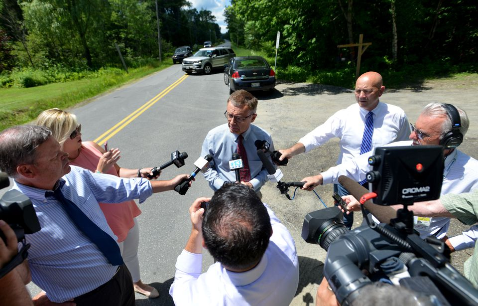 Steve McCausland, spokesman for the Maine State Police, spoke on Russell Road near Madison, Maine.