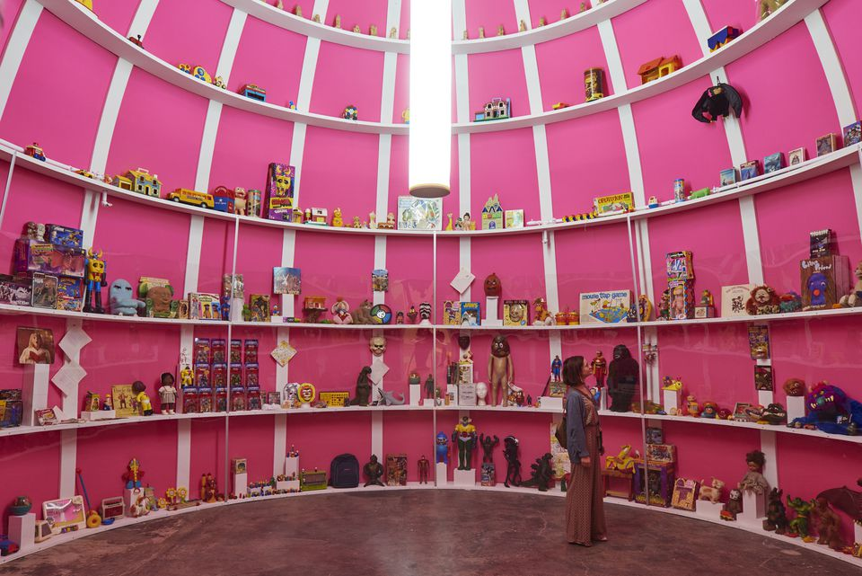 """Trenton Doyle Hancock's """"Mind of the Mound: Critical Mass"""" is on display at Mass MoCA through at least December."""