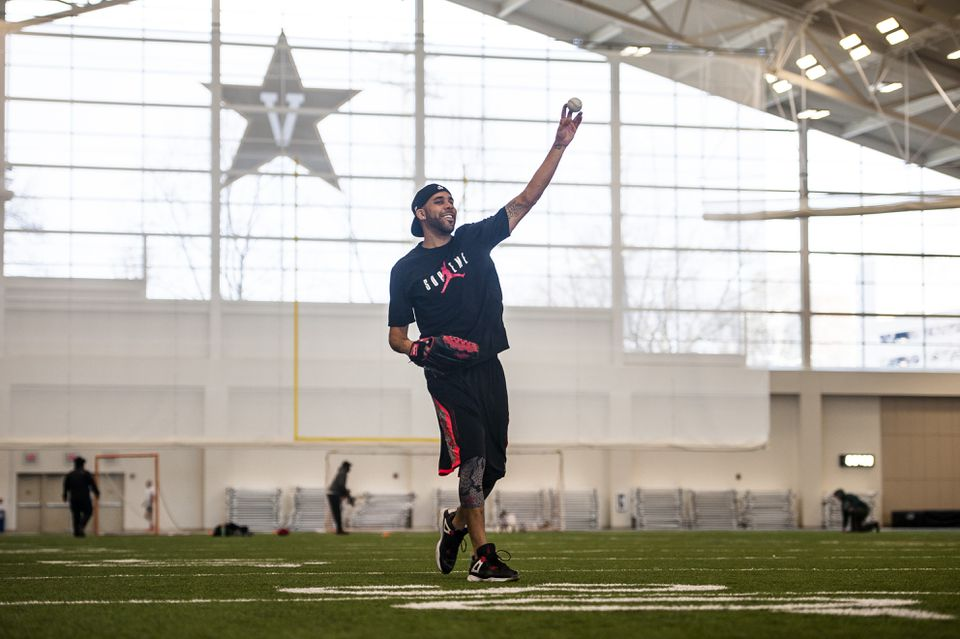 David Price warmed up while working out at the Vanderbilt Recreation Center in Nashville.