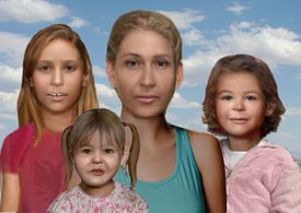 Earlier portraits of what the woman and girls may have looked like.