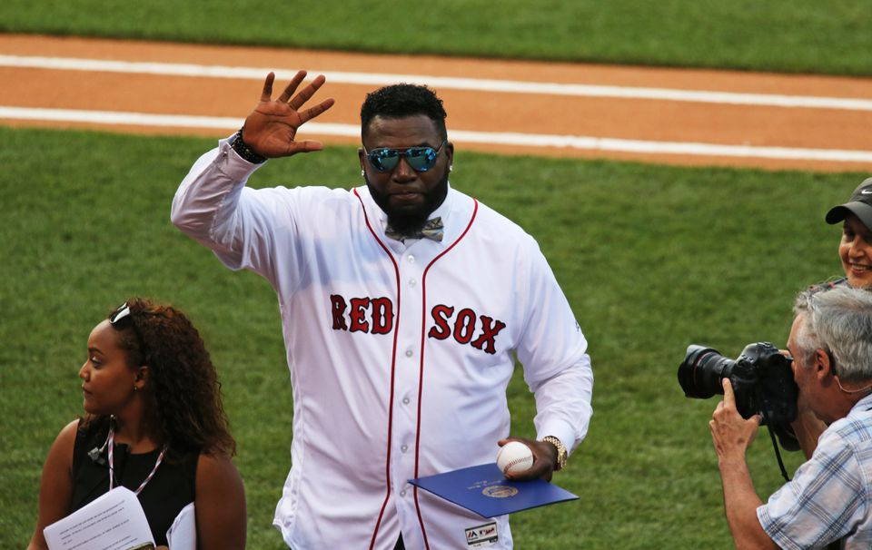 02c0a77828f David Ortiz waves to the crowd after a pregame ceremony Friday night at  Fenway Park where