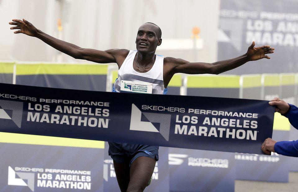 Weldon Kirui won the 2016 Los Angeles Marathon.