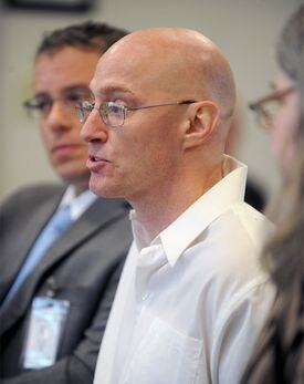 Rod Matthews spoke March 29 at his hearing before the Massachusetts Parole Board. Matthews was denied parole for the third time and must remain behind bars for five years before again seeking parole.