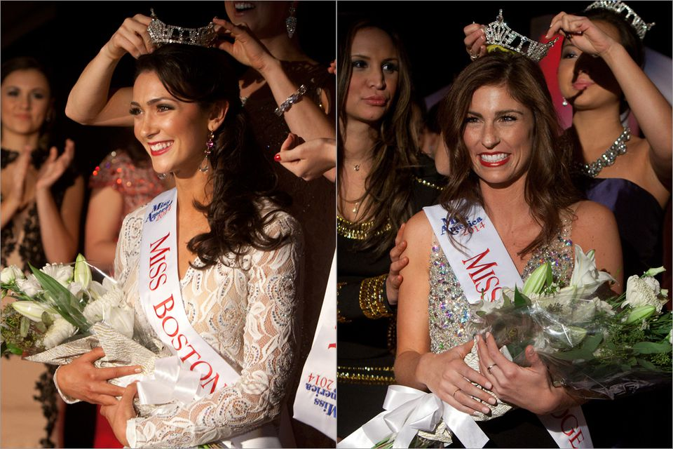 From left: Miss Boston, Meagan Fuller and Miss Cambridge, Michelle Nigro.