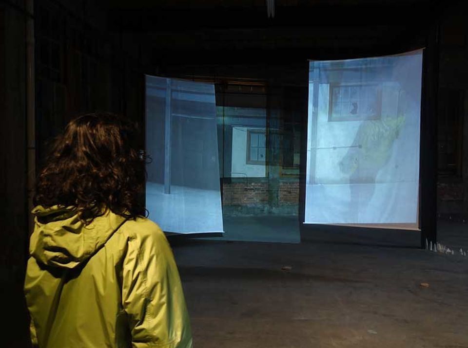 """Emma Hogarth's """"Compound Vision"""" is part of """"You Are Here"""" at New Art Center."""