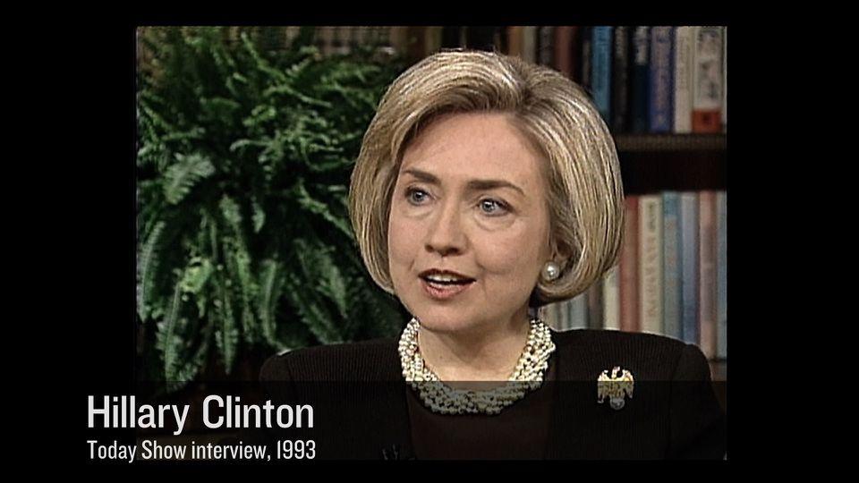 """Hillary Clinton appears in a scene from Jen Senko's """"The Brainwashing of My Dad."""""""