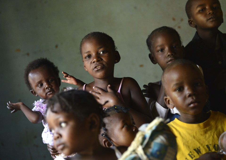 Children at an orphanage in the Central African Republic.