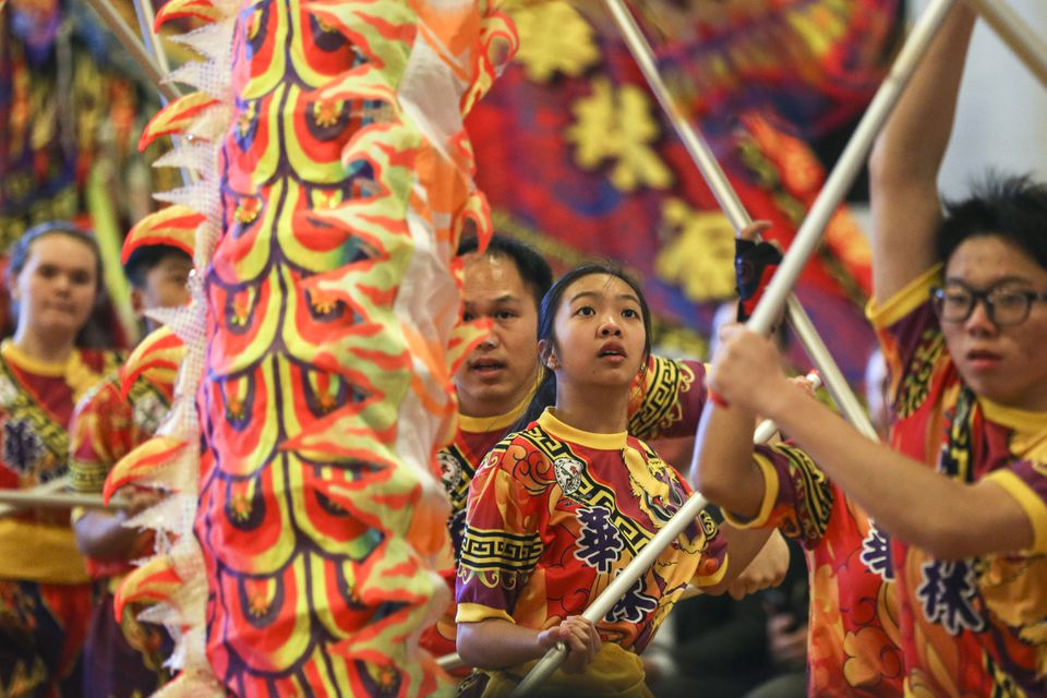 The dragon dance was  performed during the 31st annual Lunar New Year Festival at North Quincy High School.