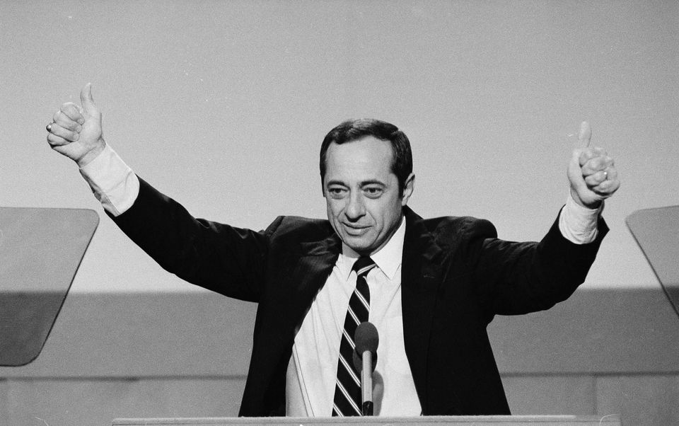 Mario Cuomo during his keynote address at the 1984 Democratic National Convention in San Francisco.