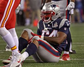 Dont'a Hightower hurt his knee in the opener against the Chiefs.