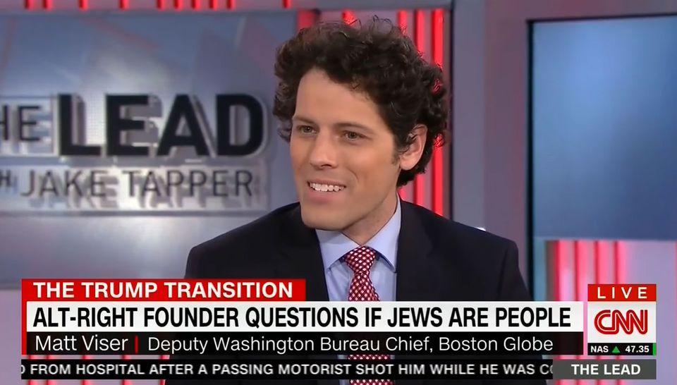 Globe reporter Matt Viser during a segment on CNN Monday.