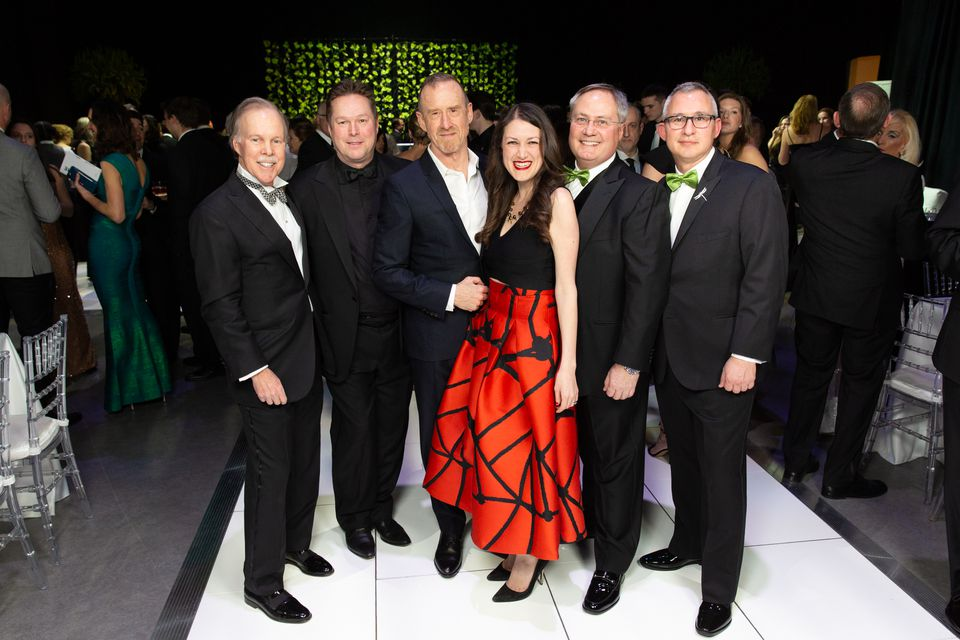 """Chairman of the Board of Trustees Jack Meyer, Artistic Director Mikko Nissinen, William Forsythe, Executive Director Meredith """"Max"""" Hodges, Boston Ballet Ball Co-Chairs Dr. Charles Carignan and Michael Cerruti."""