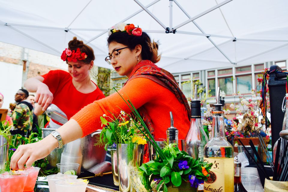 Bartenders were busy at Providence's Cinco de Mayo celebration.