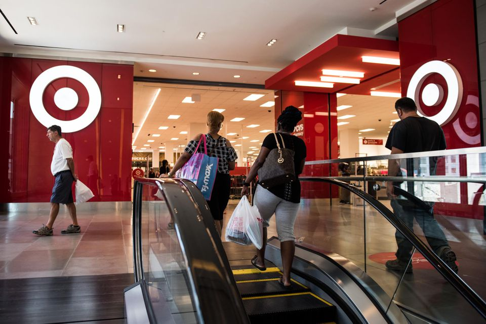 Shoppers walked into a Target store in Brooklyn.