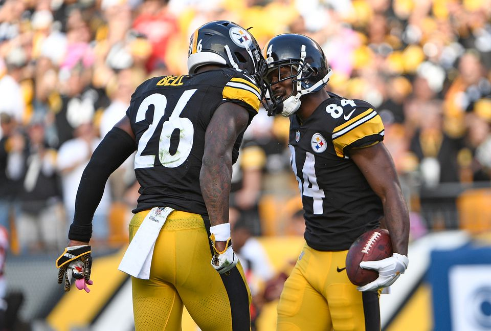 b92b2de5f47 Le Veon Bell and Antonio Brown.