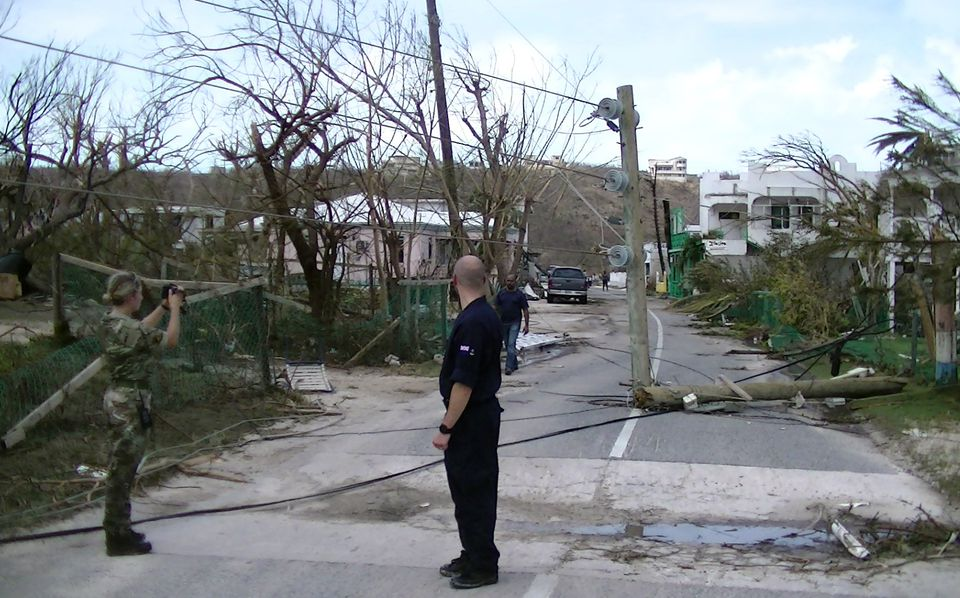 An officer from RFA Mounts Bay conducted reconnaissance in Anguilla.