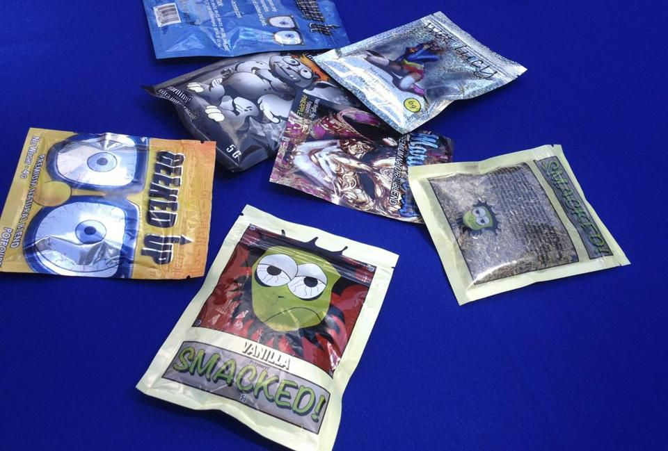 Packets of synthetic marijuana.
