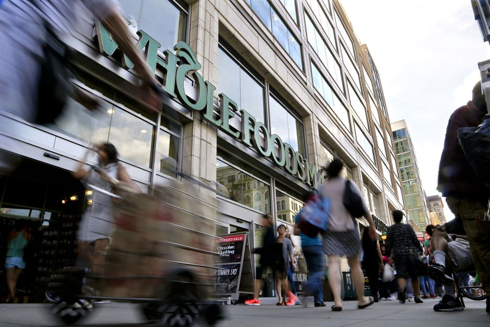 Pedestrians passed in front of a Whole Foods Market store in Union Square in New York.
