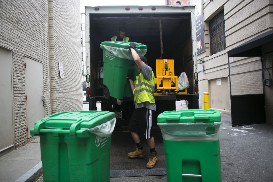 The Lenox Hotel's compost is hauled to a facility designed for organic waste.