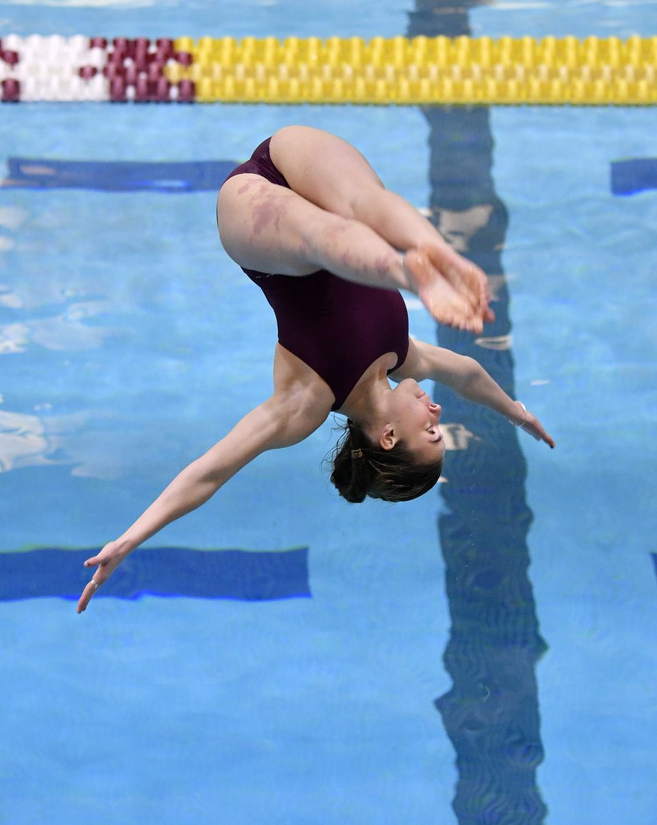 With her acrobatic dive, and runner-up finish, Samantha Blanc helped Westford earn its fourth straight North crown.