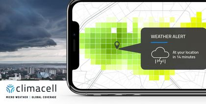 ClimaCell weather app alerts when it's about to rain, down to the