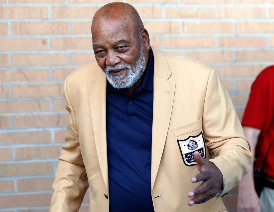 Jim Brown was at the Pro Football Hall of Fame in Canton, Ohio, over the weekend for the induction ceremony.