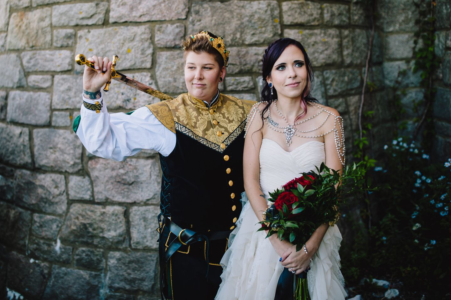 "Ashley and Charlotte Buchanan, who live in Salem, planned a ""Game of Thrones""-themed wedding at Hammond Castle in Gloucester."