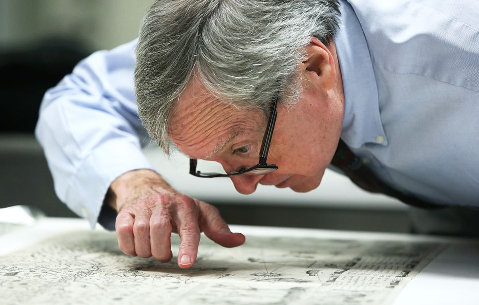 Ronald Grim noticed that markings on a map offered for sale for $285,000 matched those on a digital image made from a negative the BPL had kept.